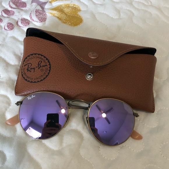 ce8ec4b9c7 Ray-ban round purple mirror tint. M 5b79ba4c12995561b6189a1d